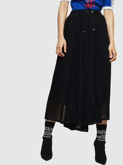 Diesel - P-TEATA, Black - Pants - Image 1