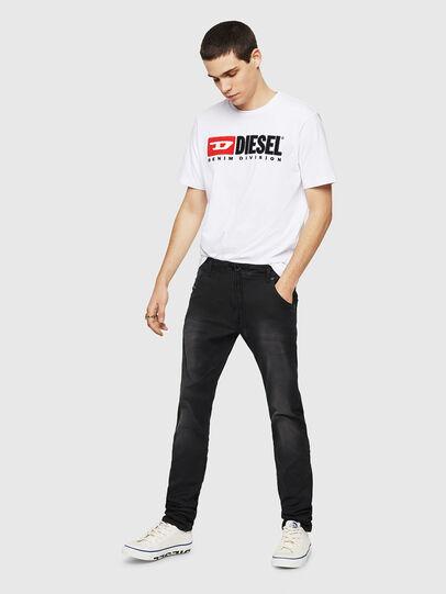 Diesel - Krooley Long JoggJeans 0670M, Black - Jeans - Image 5