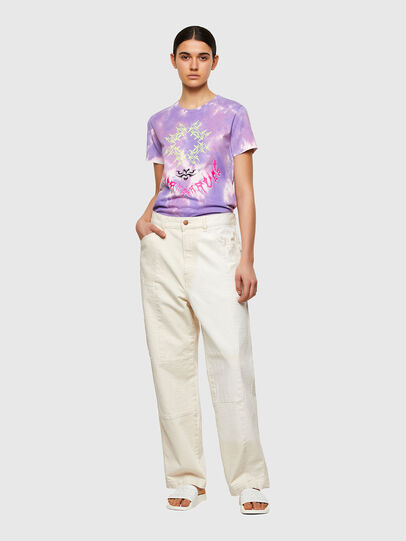 Diesel - T-SILY-A12, Lilac - T-Shirts - Image 5