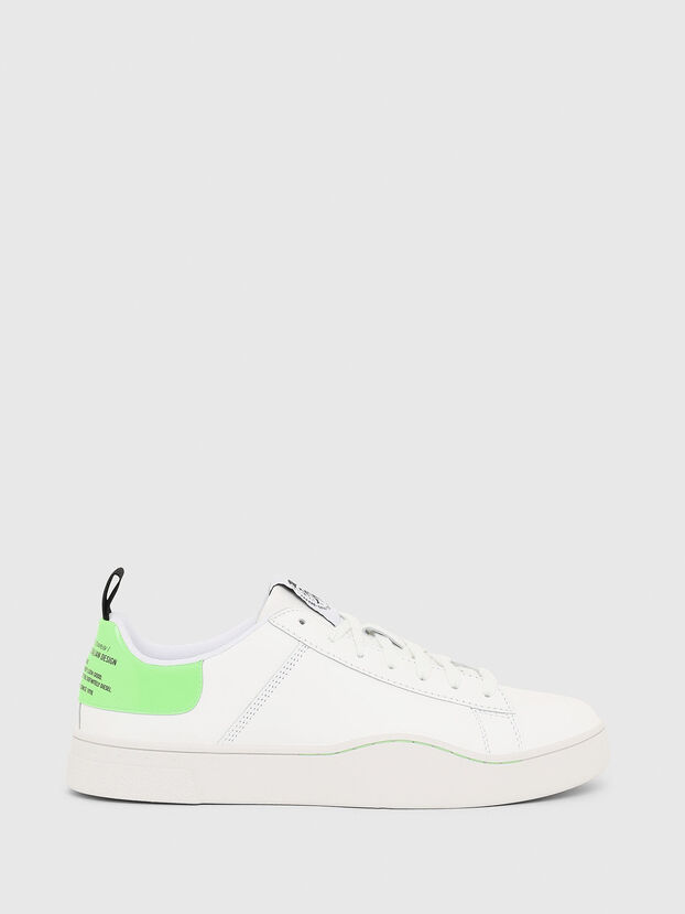 S-CLEVER LOW LACE, White/Green - Sneakers