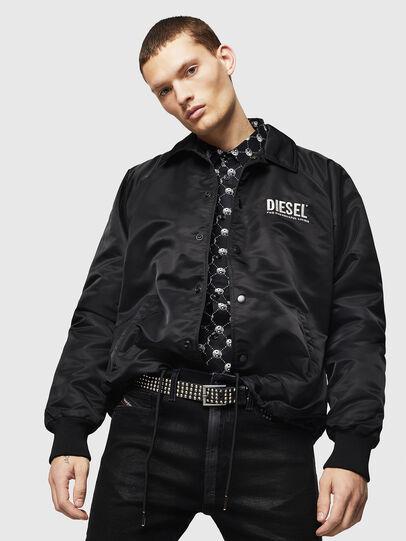Diesel - J-AKIO-A, Black - Jackets - Image 4