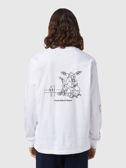 Diesel - T-JUST-LS-B52, White - T-Shirts - Image 2