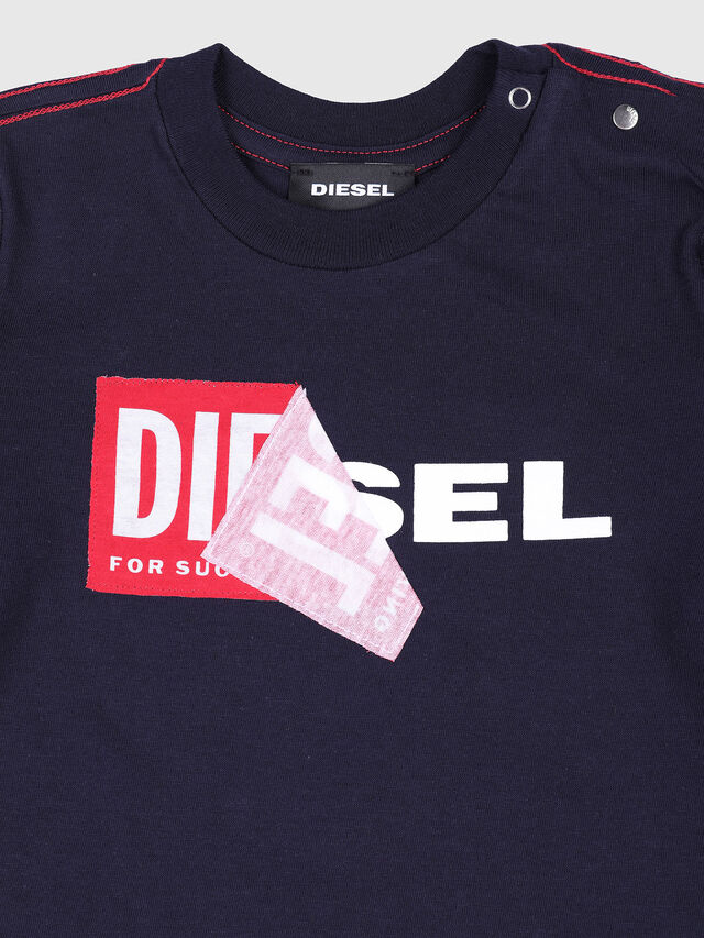 Diesel - TOQUEB, Navy Blue - T-shirts and Tops - Image 3
