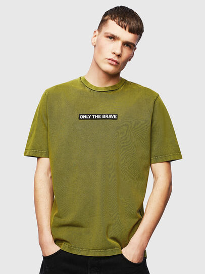 Diesel - T-JUST-SLITS-T15, Yellow - T-Shirts - Image 1