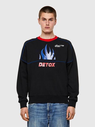 Diesel - S-LAINER, Black - Sweaters - Image 1