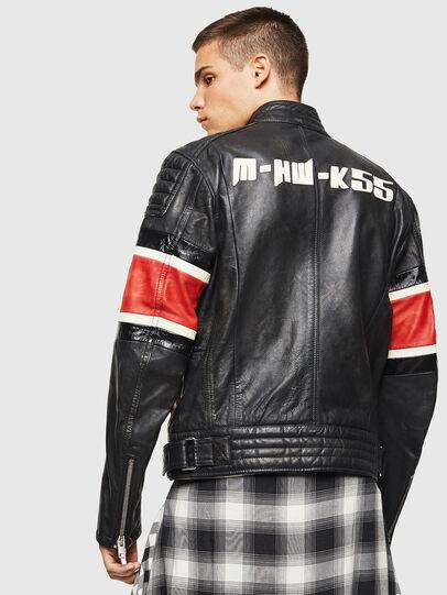 Diesel - L-ROURKE, Black/Red - Leather jackets - Image 2