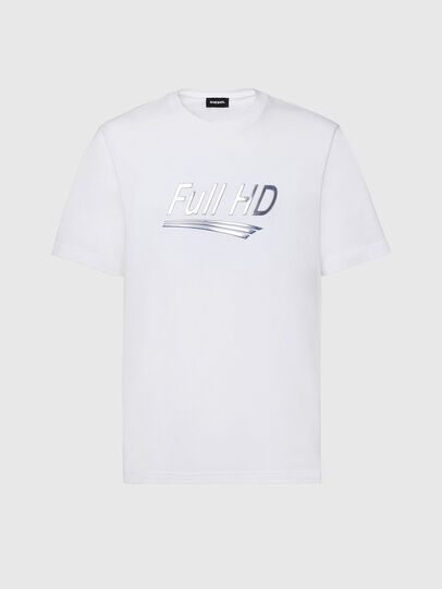 Diesel - T-JUST-SLITS-X83, White - T-Shirts - Image 1