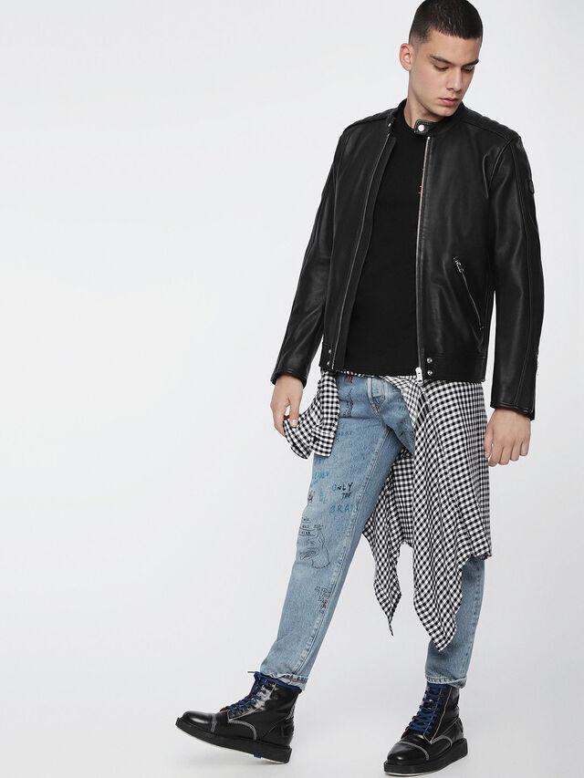 Diesel L-QUAD, Black Leather - Leather jackets - Image 6