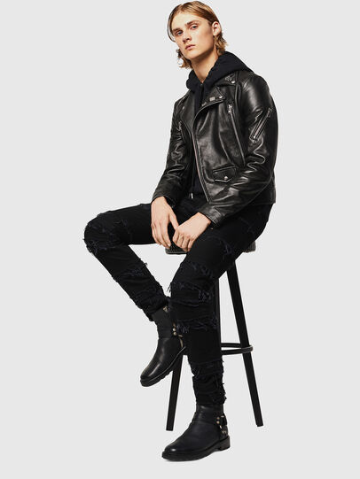 Diesel - L-PERF, Black - Leather jackets - Image 6