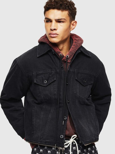 Diesel - D-SHER, Black - Winter Jackets - Image 5
