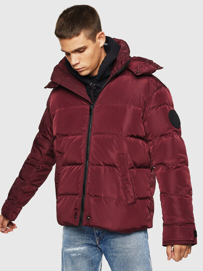 Diesel - W-SMITH-YA, Bordeaux - Winter Jackets - Image 1