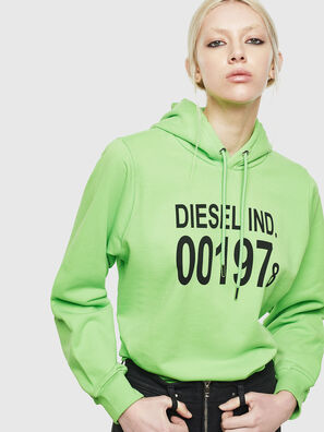 F-ANG-HOOD-J1, Green Fluo - Sweaters