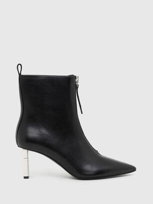 D-LEZIPPO MAB, Black/Silver - Ankle Boots