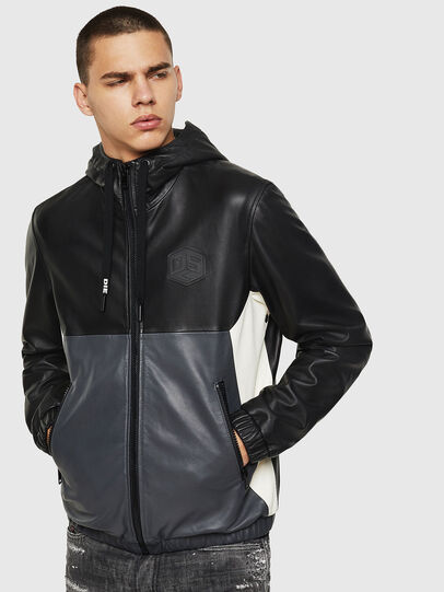 Diesel - L-CARR, Black - Leather jackets - Image 1