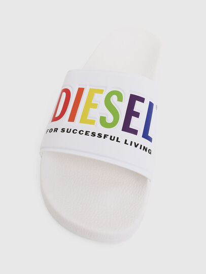 Diesel - SA-VALLA, White - Slippers - Image 5