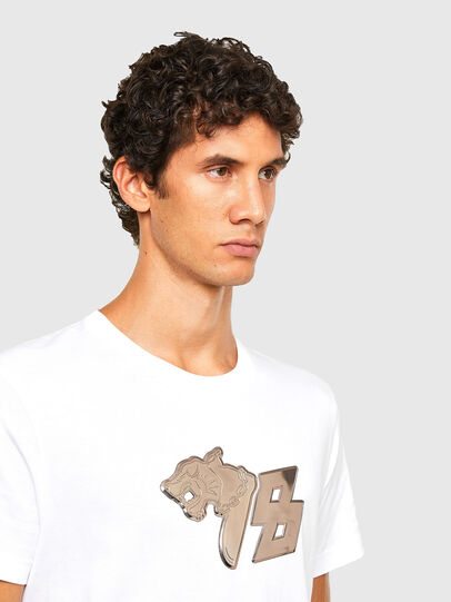 Diesel - T-DIEGOS-N29, White - T-Shirts - Image 3