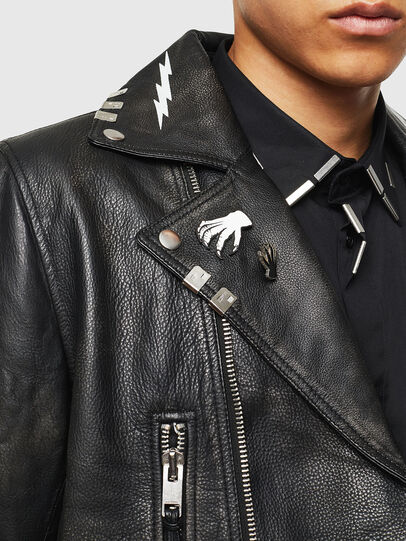Diesel - L-GOTIV-A, Black - Leather jackets - Image 5