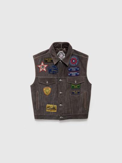 Diesel - DxD-4, Dark grey - Leather jackets - Image 1