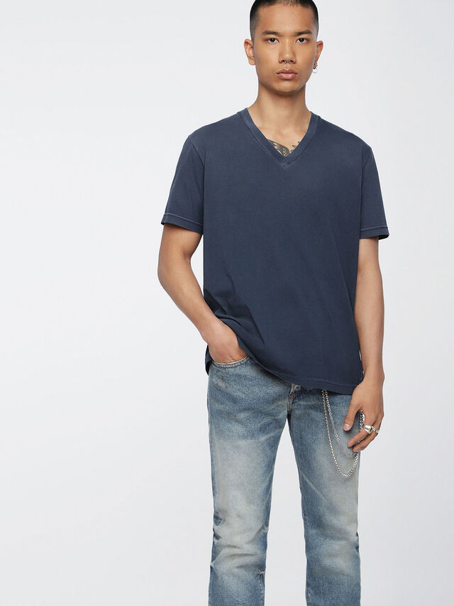 Diesel - T-KEITHS, Blue - T-Shirts - Image 1