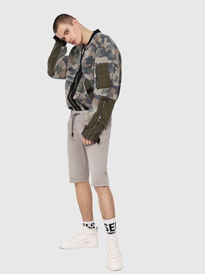 Diesel - D-KROOSHORT JOGGJEANS, Grey - Shorts - Image 4