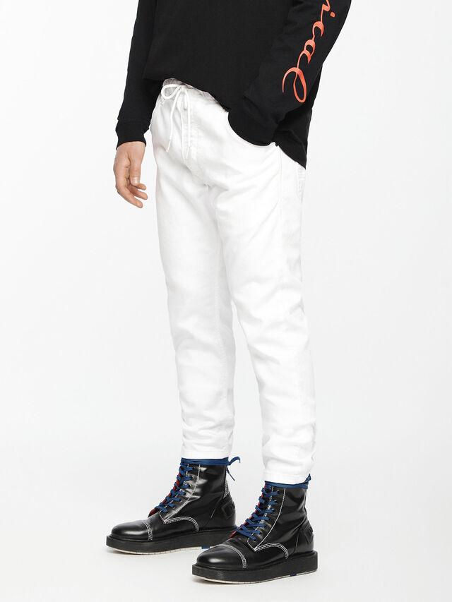 Diesel - Krooley JoggJeans 0684U, White - Jeans - Image 1