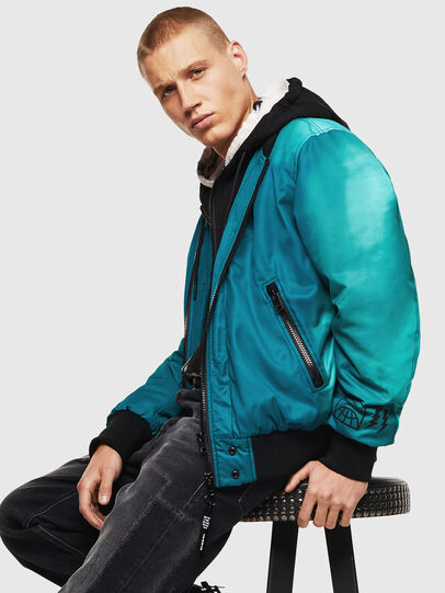 Diesel - J-FOREST, Water Green - Jackets - Image 4
