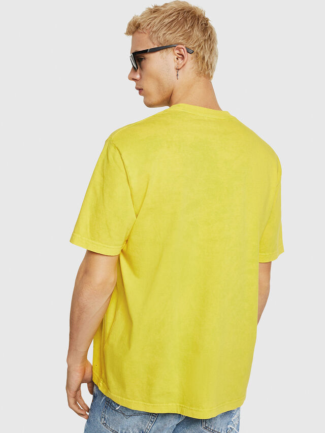 Diesel - T-JUST-Y18, Yellow - T-Shirts - Image 3