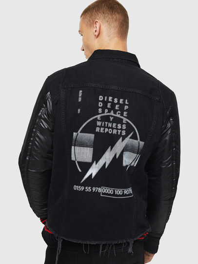 Diesel - D-BLIT, Black/Dark grey - Denim Jackets - Image 2