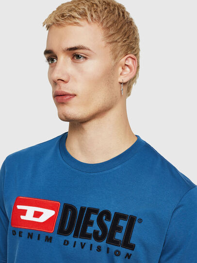 Diesel - T-JUST-DIVISION, Blue - T-Shirts - Image 3