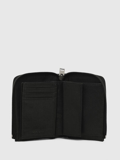 Diesel - L-12 ZIP, Black - Zip-Round Wallets - Image 3