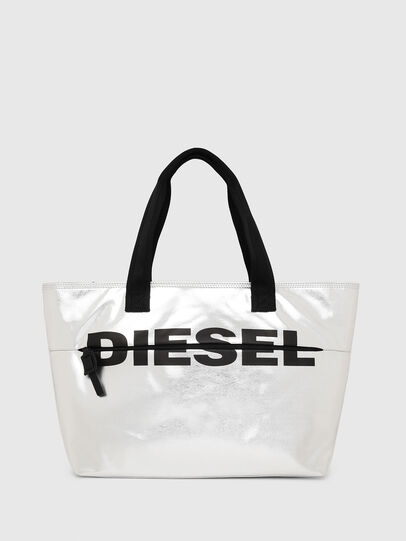 Diesel - F-BOLD SHOPPER II, Silver - Shopping and Shoulder Bags - Image 1
