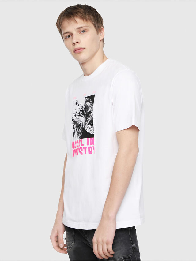 Diesel - T-JUST-Y3, White - T-Shirts - Image 1