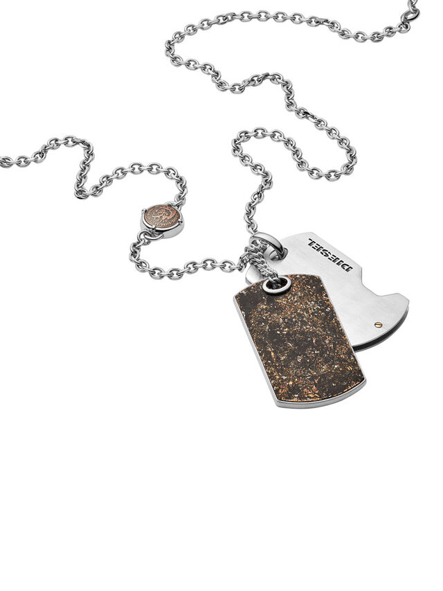 Diesel NECKLACE DX1079, Bronze - Necklaces - Image 2