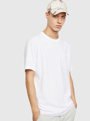 T-JUST-POCKET-T17, White - T-Shirts