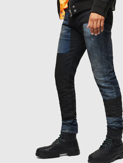 Diesel - D-Strukt 0094K, Dark Blue - Jeans - Image 4