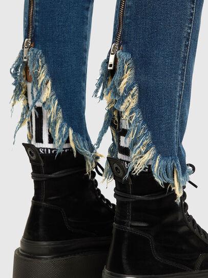 Diesel - Babhila-Zip 009EZ, Medium blue - Jeans - Image 4
