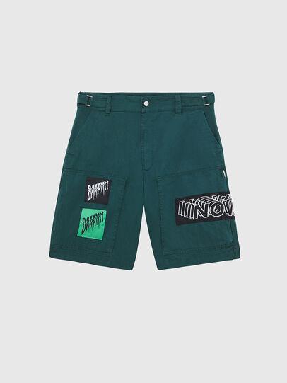 Diesel - P-DUGA-SHO, Dark Green - Shorts - Image 1