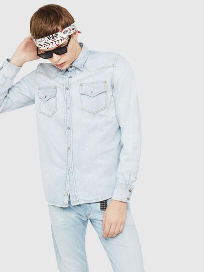 Diesel - D-EAST-P, Blue Jeans - Denim Shirts - Image 1