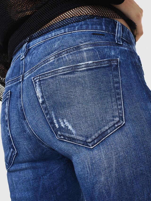 Diesel - Slandy 0090K, Dark Blue - Jeans - Image 4