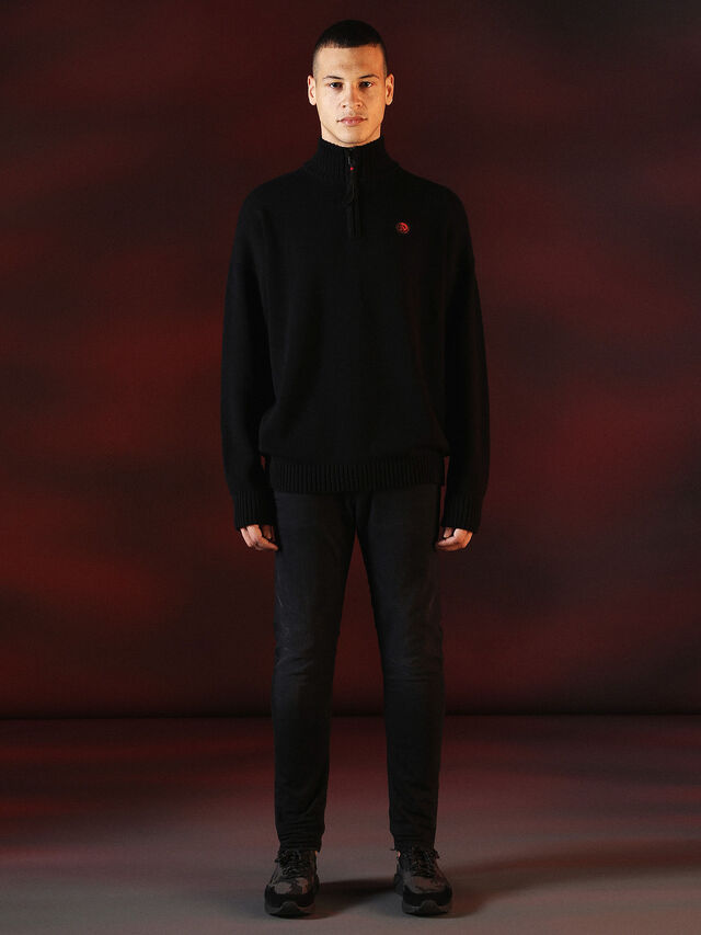 Diesel - DVL-KNIT-SPECIAL COLLECTION, Black - Knitwear - Image 4