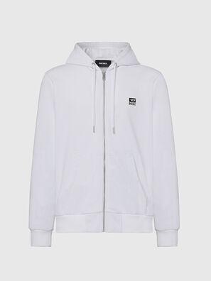 S-GIRK-HOOD-ZIP-K1, White - Sweaters
