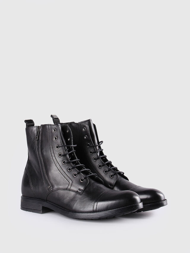 Diesel - D-KALLIEN, Black Leather - Boots - Image 2