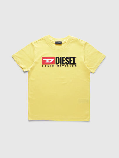 Diesel - TJUSTDIVISION, Yellow - T-shirts and Tops - Image 1