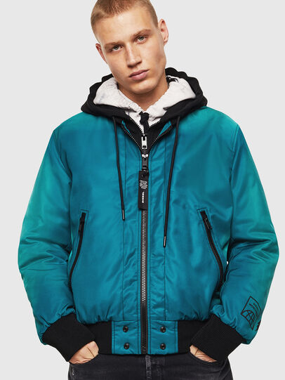 Diesel - J-FOREST, Water Green - Jackets - Image 1