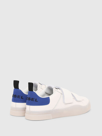 Diesel - S-CLEVER LOW STRAP, White/Blue - Sneakers - Image 3