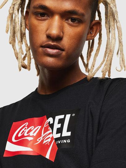 Diesel - CC-T-JUST-COLA, Black - T-Shirts - Image 5