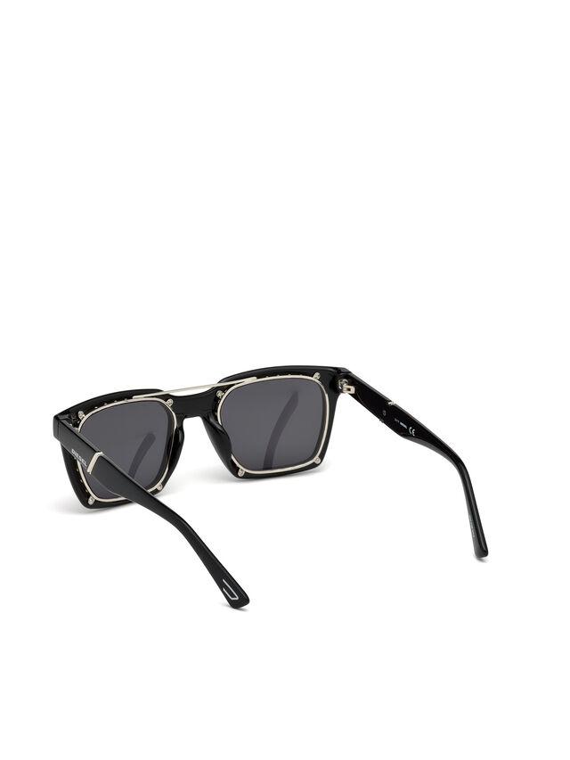 Diesel - DL0250, Bright Black - Eyewear - Image 3