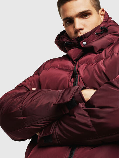 Diesel - W-SMITH-YA, Bordeaux - Winter Jackets - Image 3
