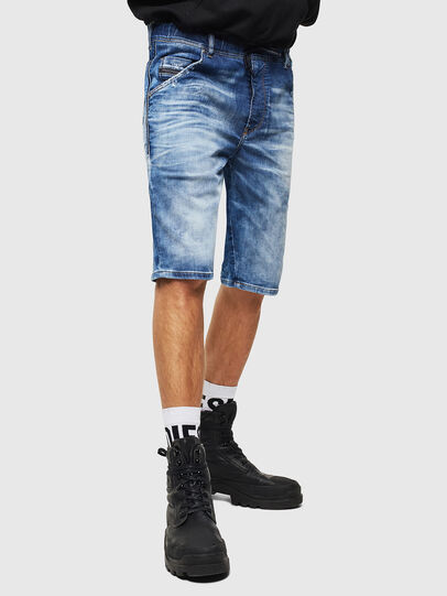 Diesel - D-KROOSHORT-T, Medium blue - Shorts - Image 1