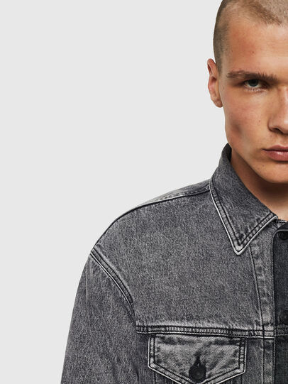 Diesel - D-POLL, Black - Denim Jackets - Image 4